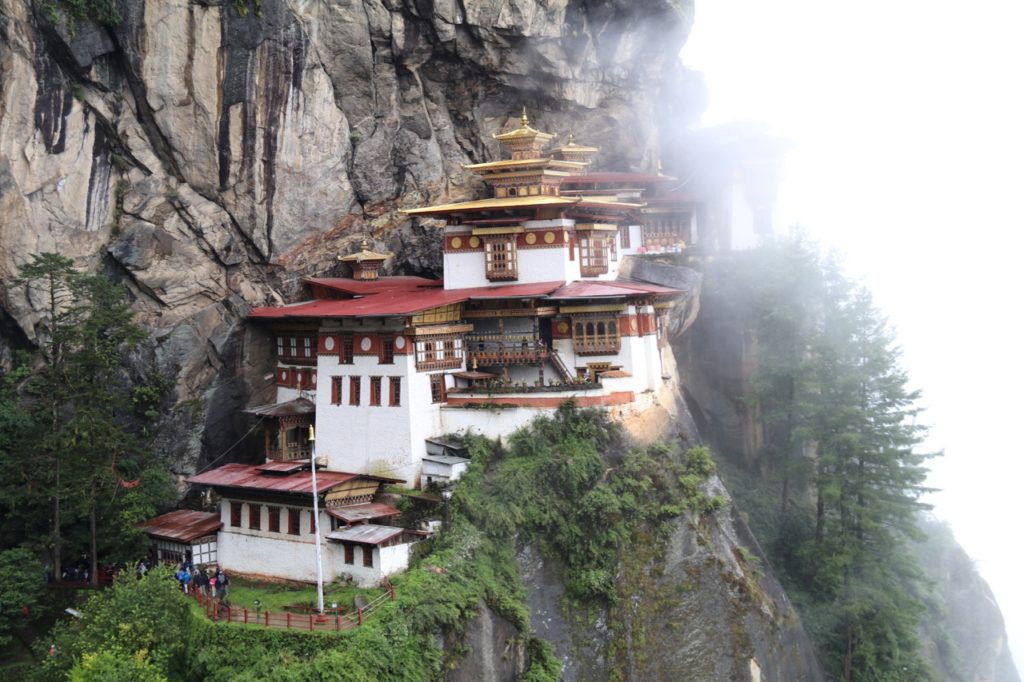 The iconic Tiger's Nest Monastery in Bhutan