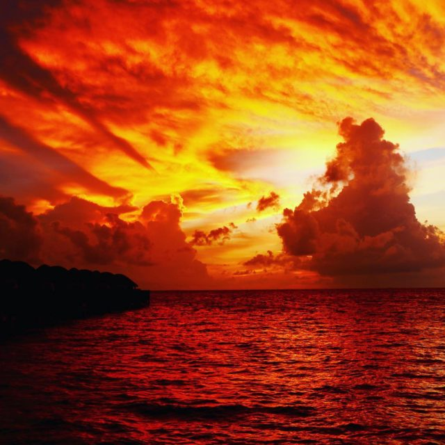 Hows this for a sunset? constancehotels Haleveli maldives Truely spectacularhellip