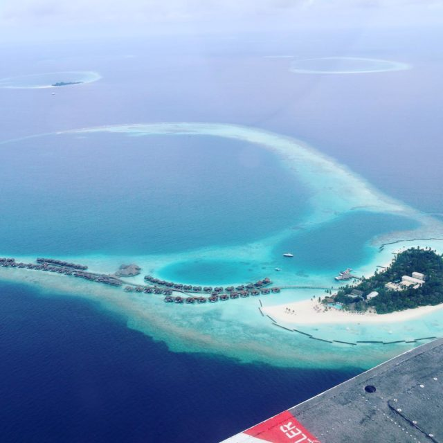The beautiful island of Haleveli maldives from the air constancehotelshellip