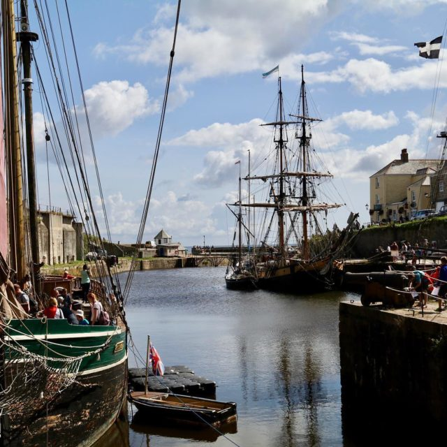 The historic harbour of Charlestown in Cornwall Built in thehellip