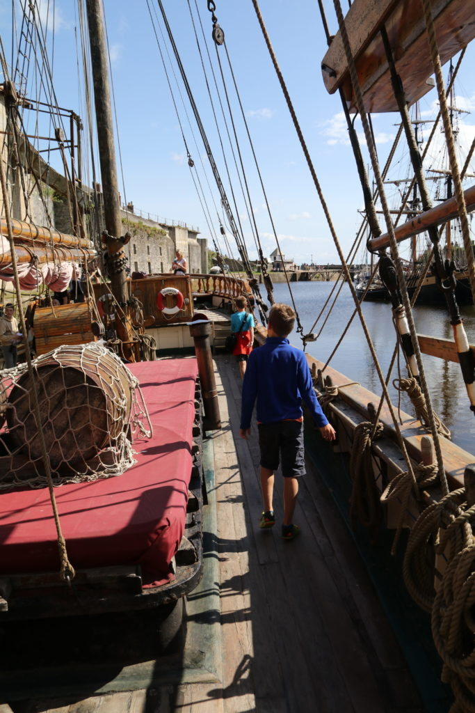 Aboard a tall ship at Charlestown Harbour
