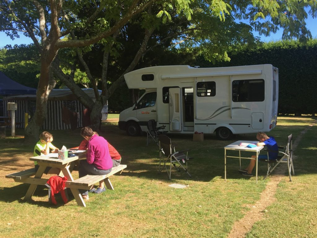 Home Schooling on the road while touring New Zealand in a camper van