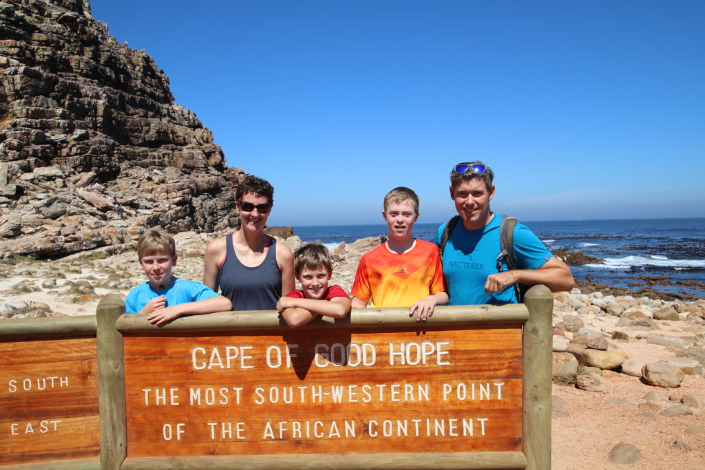 Arriving at the Cape of Good Hope in South Africa