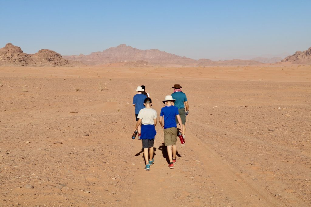 Hiking with kids in Wadi Rum