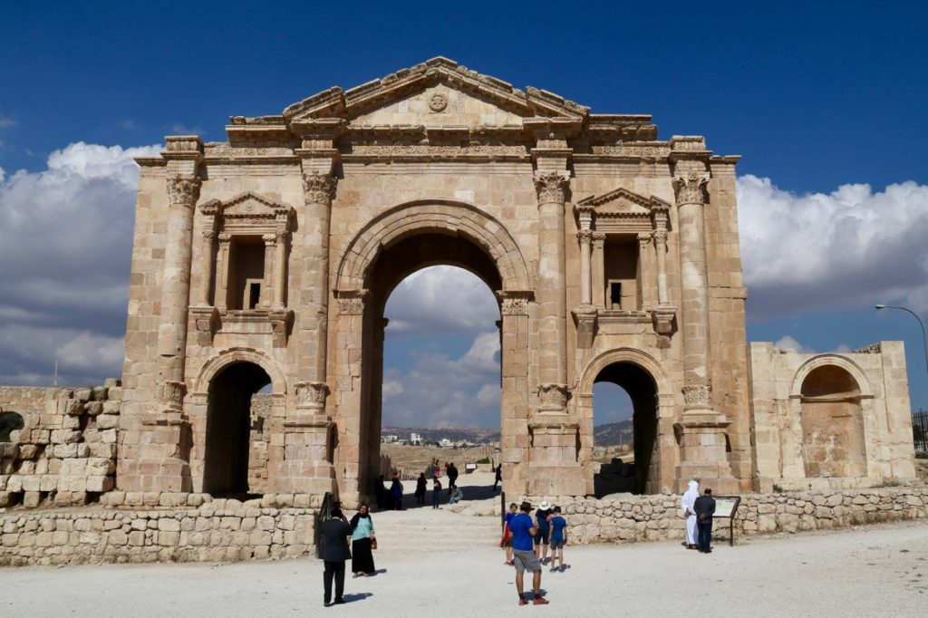 Hadrian's Arch in the Roman city of Jerash