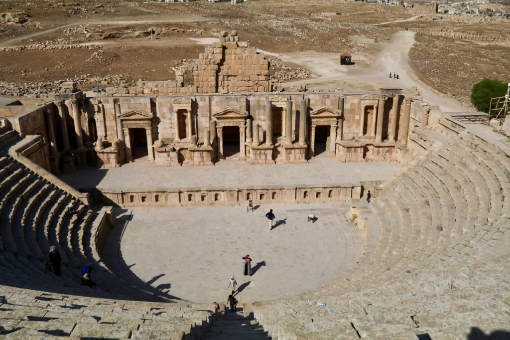 The South Theatre in the Roman city of Jerash