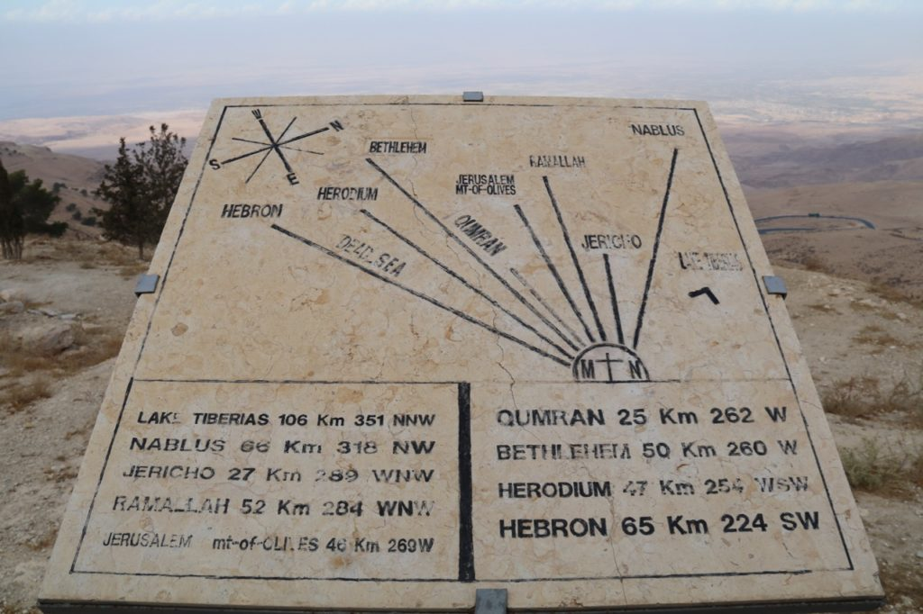 The Memorial Viewpoint on Mount Nebo. Moses viewed the Promised Land from here.