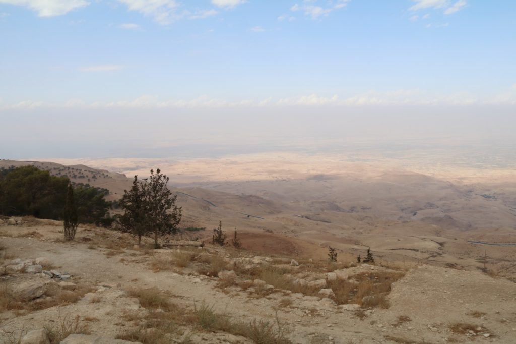 The view from Mount Nebo in Jordan