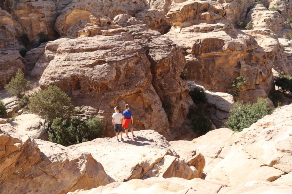 The stunning viewpoint at Little Petra