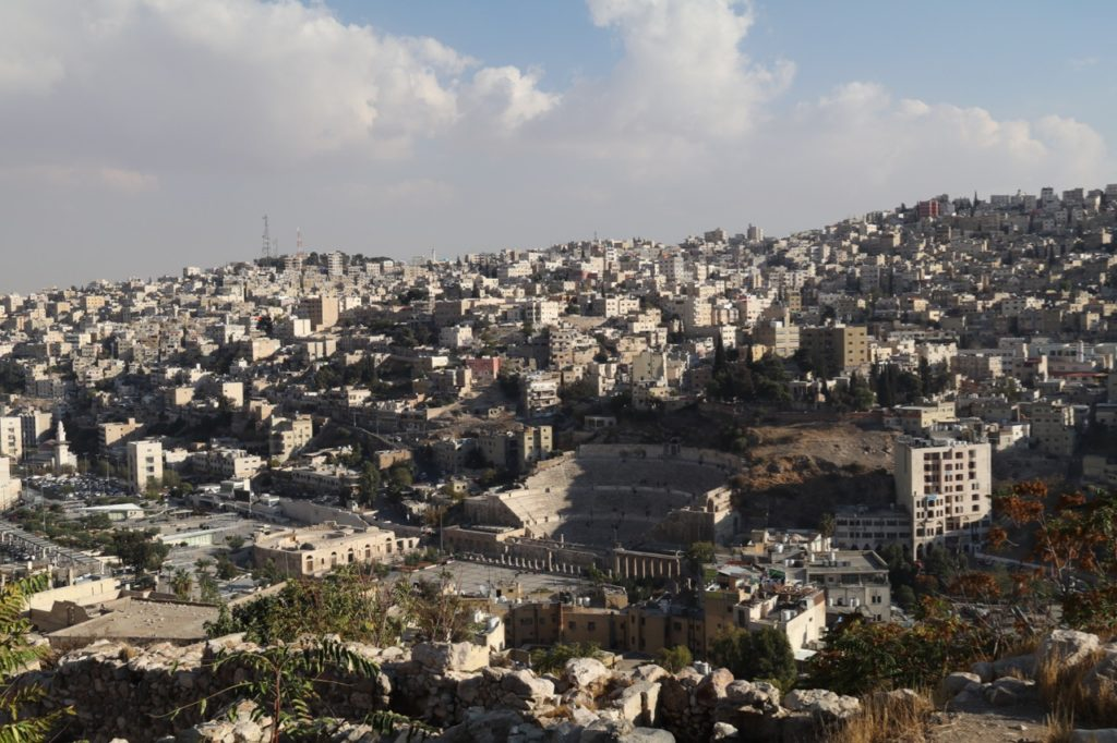 Views across Amman from the Citadel