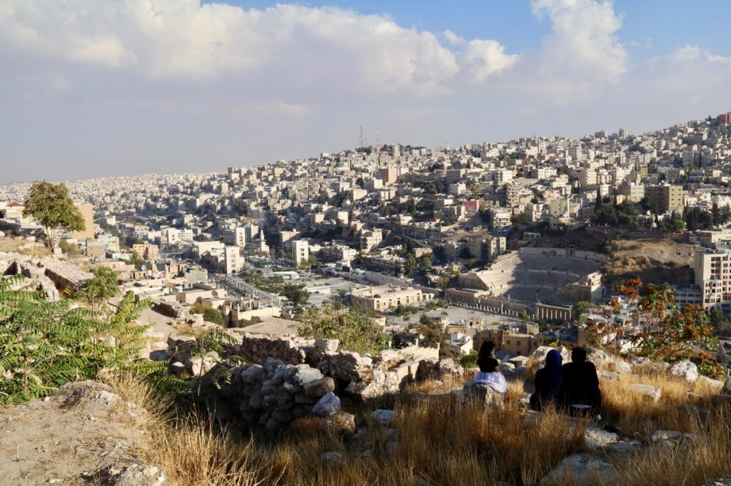 Amman with kids - visiting the Citadel with views of the Roman Theatre