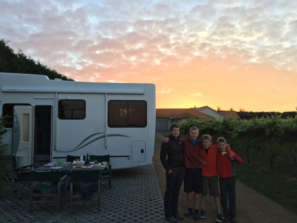 Camping with kids at Coney Wines in Martinborough, New Zealand