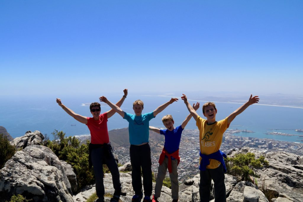Hiking Table Mountain in Cape Town with kids
