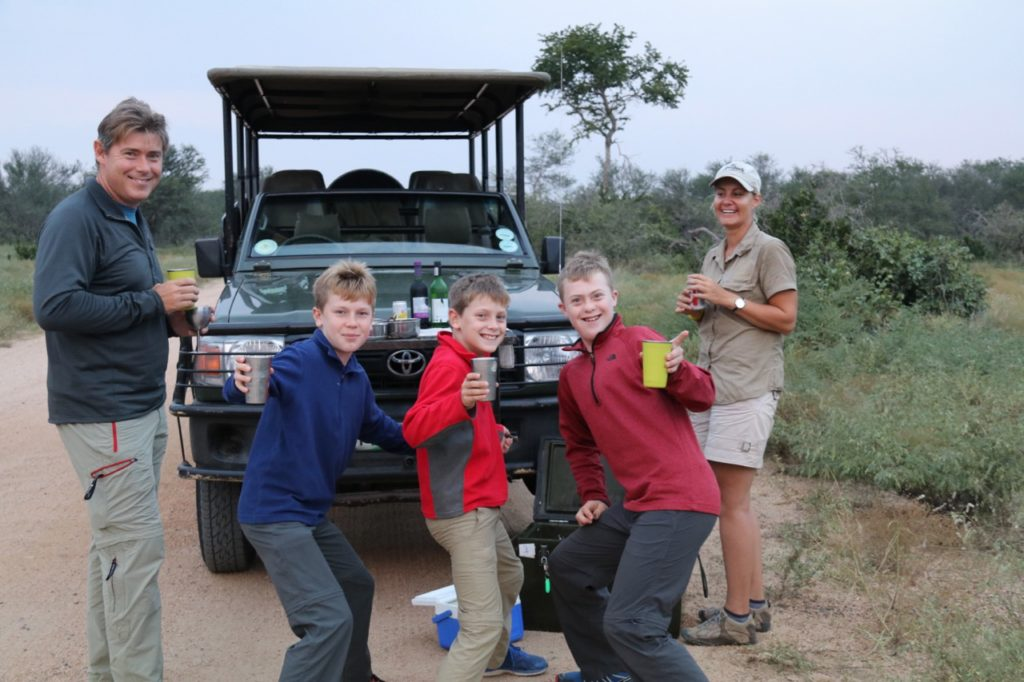 Family safari in Kruger National Park, South Africa