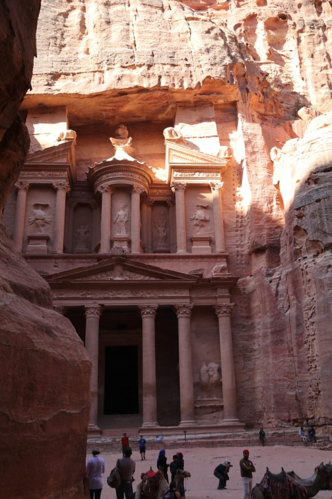 The Treasury at Petra in all its splendour