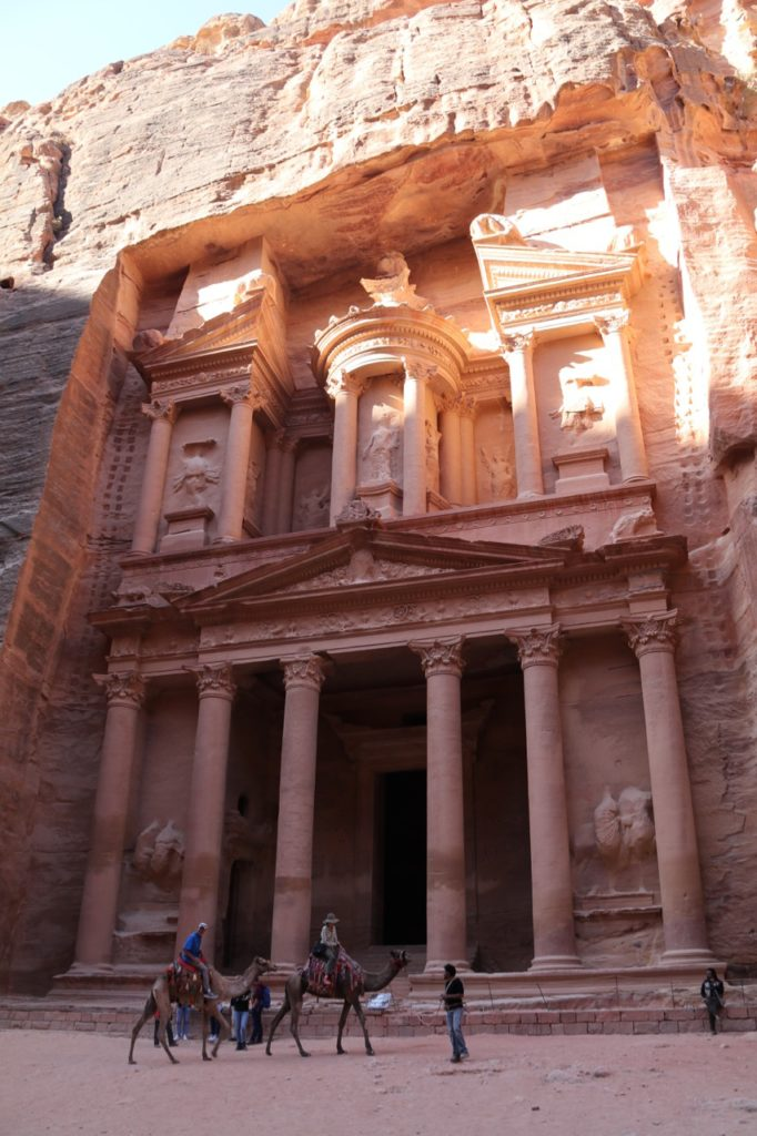 The famous Treasury at Petra in the early morning light