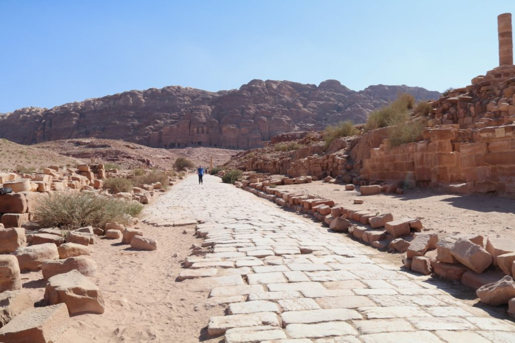 The Colonnaded Street in Petra