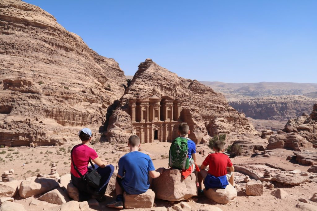 The magnificent Monastery at Petra