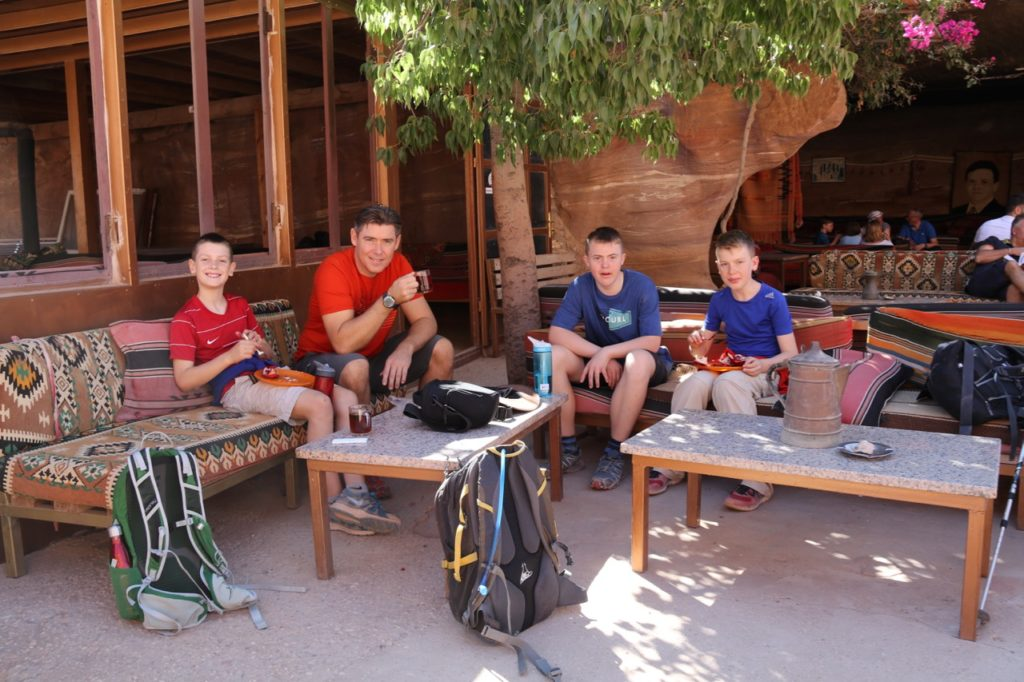 The teahouse opposite the Monastery at Petra