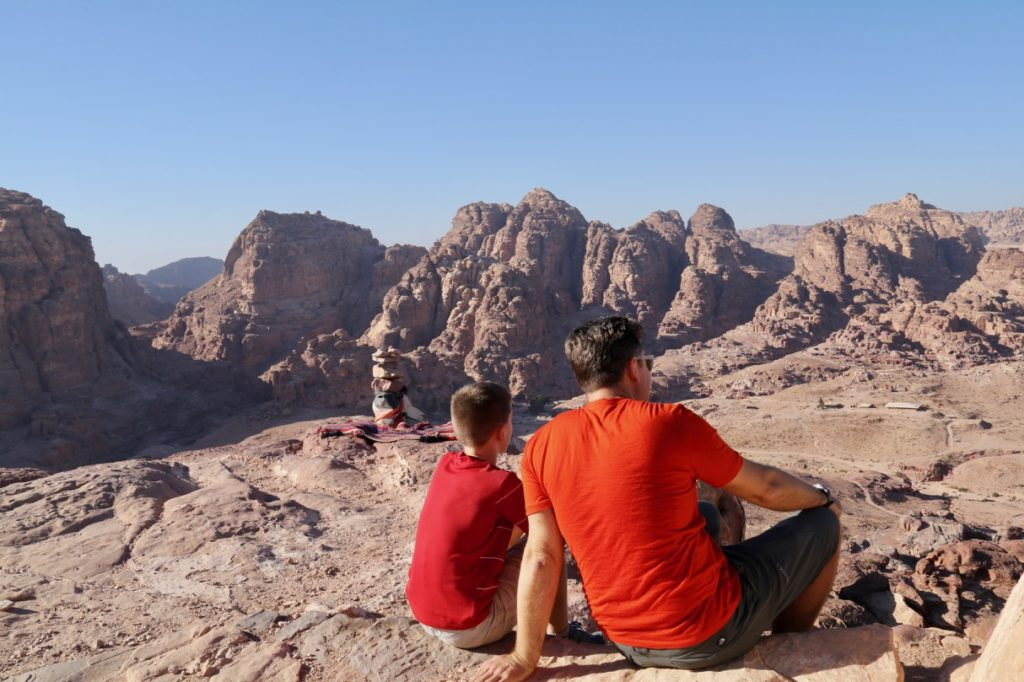 The views across Petra from the High Place of Sacrifice